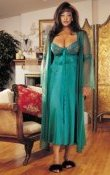 PLUS - 2 Piece Long Gown Peignoir Set