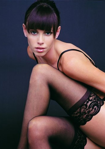 Detailed image of 3 Inch Lace Top Lycra Sheer Thigh High