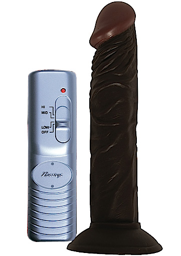 Detailed image of Afro American Whopper 7 Inch Vibrating Dildo