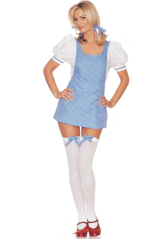 Detailed image of Sweet Dorothy Apron Dress Costume