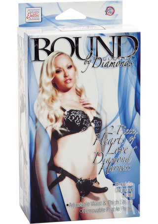 back - Bound By Diamonds Heart Shaped Strap On Harness