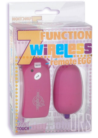 back - 7 Function Remote Egg Fuchsia