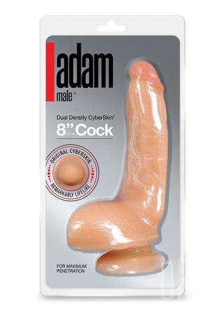 Large Photo of Adam Male Dual Density Cyberskin 8 Inch Cock