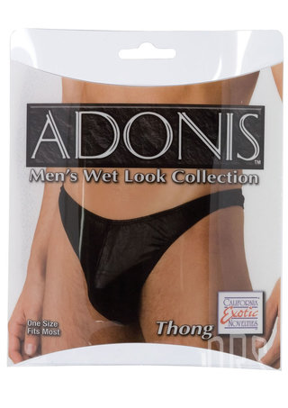 Large Photo of Adonis Wet Look Men's Thong