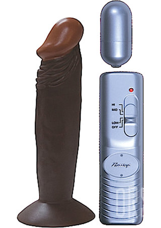 back - Afro American Whopper 6 Inch Vibrating Penis