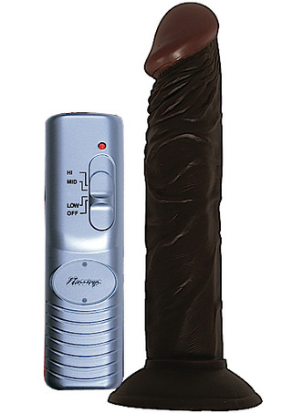 Large Photo of Afro American Whopper 7 Inch Vibrating Dildo