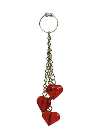 Large Photo of Asian Hearts Navel Ring