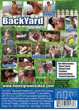 back - Backyard Amateurs 8