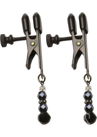 back - Black Beaded Clamps - Broad Tip