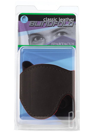 back - Classic Cut Lined Leather Blindfold