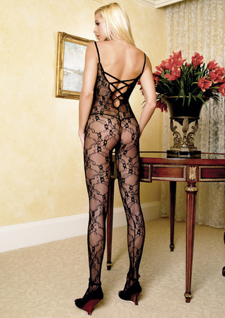 Back - Bodystocking with Criss-Cross Back