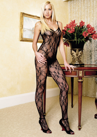 Large Photo of Bodystocking with Criss-Cross Back