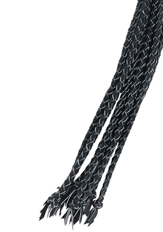 Hi Quality Braded Leather Whip - Braided Leather Cat-O-Nine Whip