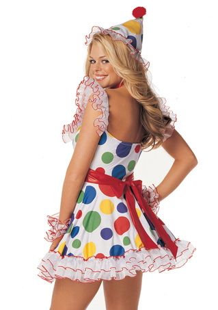 Back - Clownin Around Costume - Small/Medium