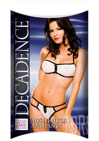 Large Photo of Decadence Mesh Halter & Panty