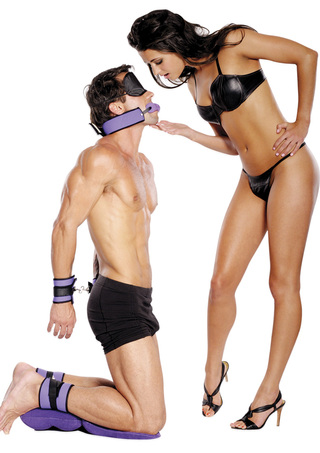 Model View - Purple Pleasure Bondage Set