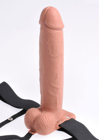 Large Photo of 10 Inch Hollow Rechargeable Strap-On with Remote