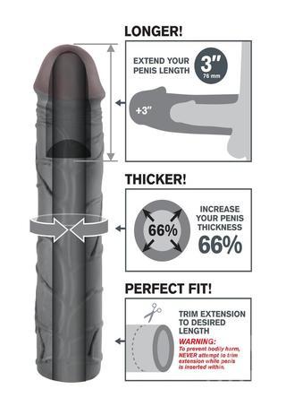 back - Mega 3 Inch Penis Extension