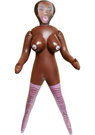 Large Photo of Mercedes Brown Inflatable Love Doll