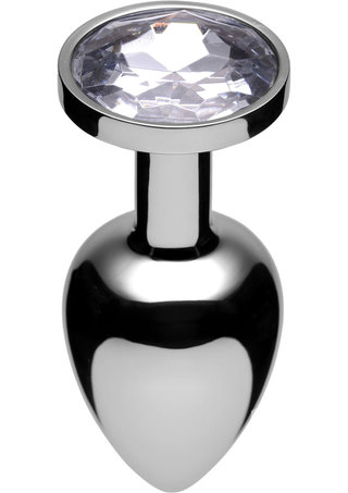 Large Photo of Lucent Jewel Accented Stainless Steel Butt Plug