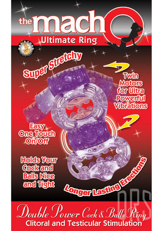 back - Macho Double Power Cock & Ball Ring