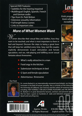 Back of Package - More Of What Women Want Sale
