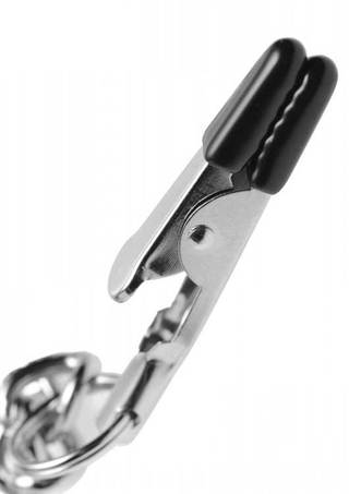 Clamp Close Up - Collared Nipple and Labia Clamp Set
