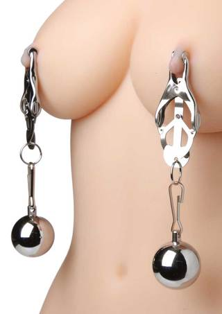 Large Photo of Deviant Monarch Clover Nipple Clamps with Weights