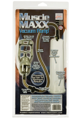Back of Package - Muscle Maxx Vacuum Pump