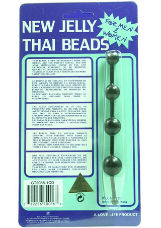 Front of Package - New Jelly Thai Anal Beads