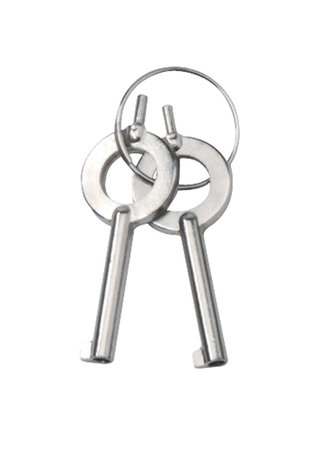 back - Nickel Plated Locking Handcuffs