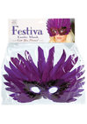 Festiva Exotic Feather Mask