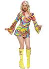 Flirty Hippie Print Mini Dress - Small/Medium