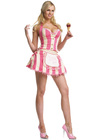 Ice-Cream Parlor Girl Costume - Medium