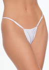 Lycra Adjustable String Thong - Onesize White