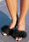 Marabou Pumps - Black Size 5