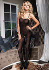 Opaque Bodystocking - Red Onesize