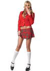 Private School Girl Costume - Medium - Red