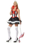 Queen Of Hearts Costume - Med/Large