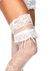 Satin Organza Garter With Bow