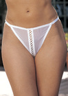 Stretch Mesh Crotchless Thong