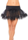 Teardrop Lace Petticoat - Black