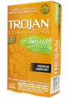 Trojan Stimulations Twisted Condoms 12 Pack