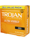 Trojan Ultra Ribbed Condoms 36 Pack
