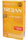 Trojan Stimulations Ultra Ribbed Spermicidal 12 Pack