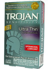 Trojan Ultra Thin with Spermicidal Lubricant 12 Pack