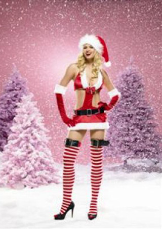 Large Photo of Miss Santa Costume - M/L